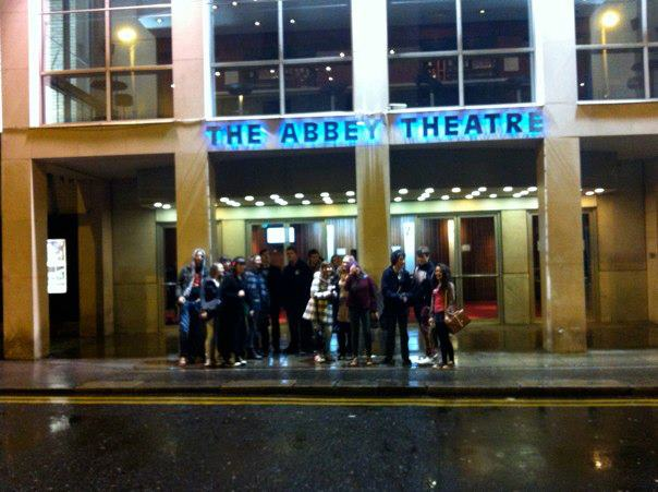 Young Critics arrive at Abbey Theatre for King Lear