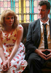 Janet Moran and Steve Blount in Swing by Fishamble Theatre Co.