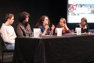 Panelists Pierec, Patrick, Rita, Mary